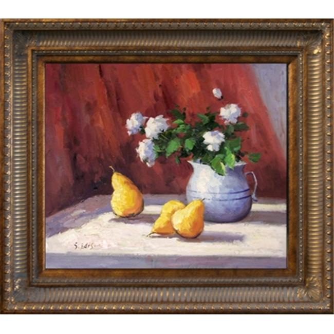 Artmasters Collection KM89551-655D Flower & Fruit II Framed Oil Painting