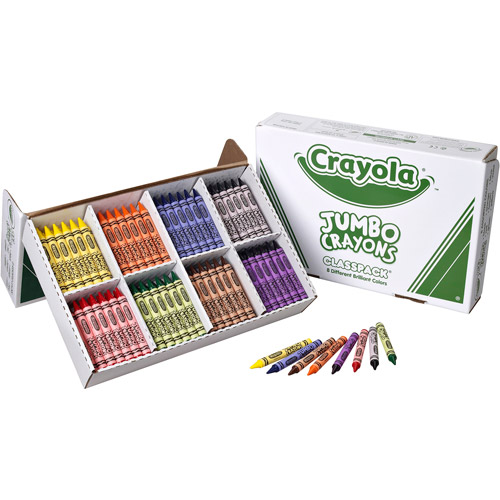Crayola Jumbo Classpack Crayons, 25 each of 8 Colors
