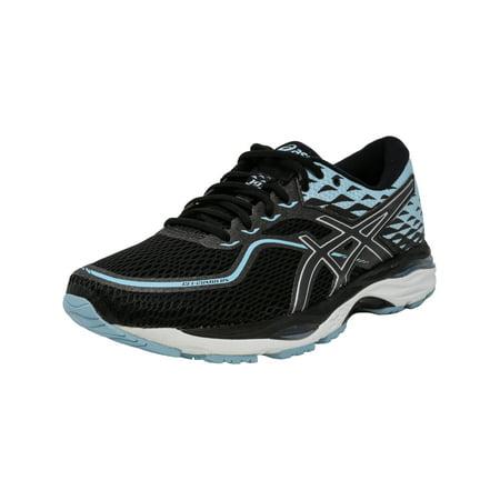 Asics Women's Gel-Cumulus 19 Black / Porcelain Blue White Ankle-High Running Shoe - 11.5M ()