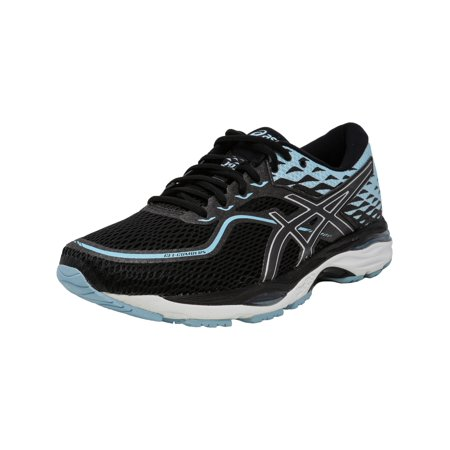Asics Women's Gel-Cumulus 19 Black / Porcelain Blue White Ankle-High Running Shoe -