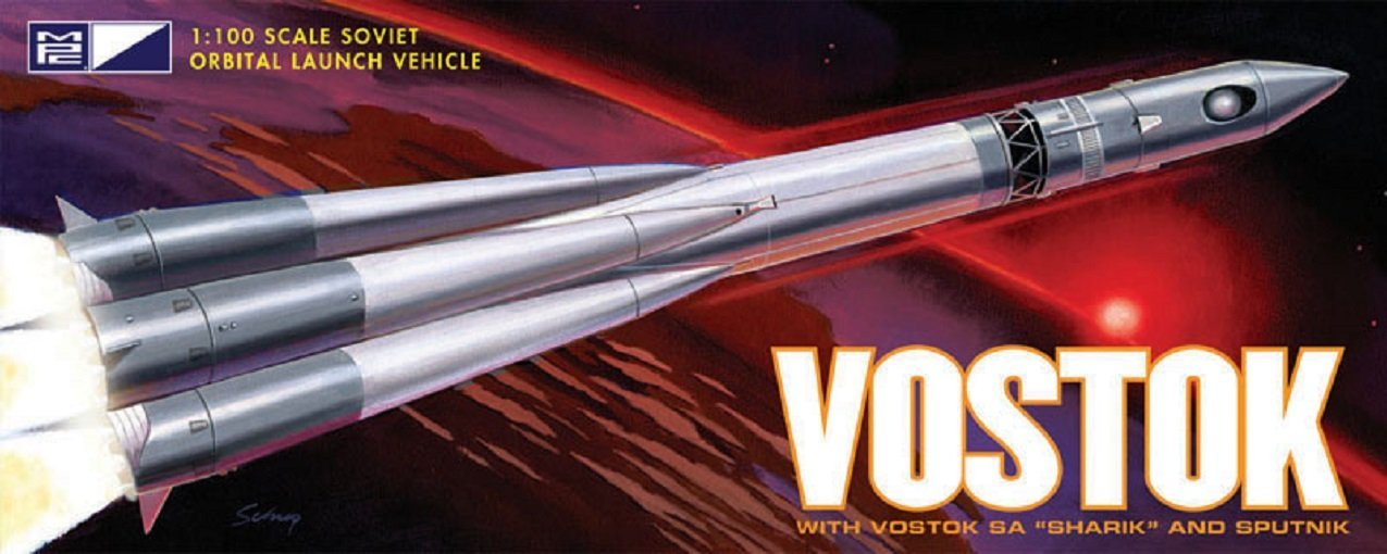 792 06 Vostok Rocket, This display model of the Russian Vostok rocket represents the craft... by