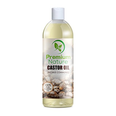 Castor Oil 16 oz - Carrier Oil, Stimulates Hair Growth, Conditions Hair, Heals Inflamed Skin, Nourishes & Moisturizes Skin, Fades Blemishes - By Premium