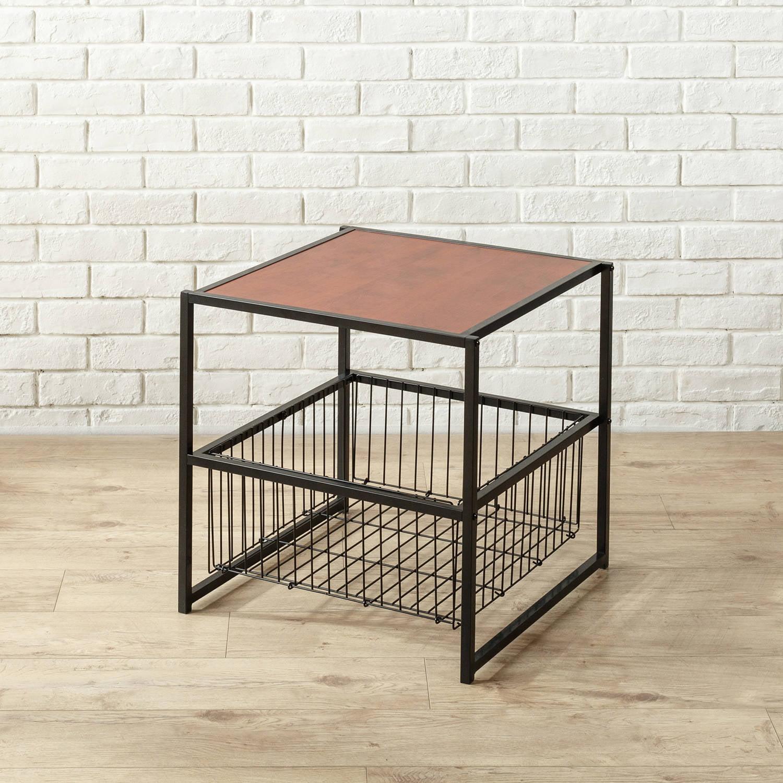 Brown Zinus Modern Studio Collection Deluxe Rectangular Coffee Table