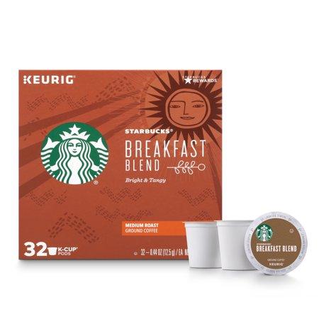Starbucks Breakfast Blend K-Cup Coffee Pods, Medium Roast, 32 Count](Halloween Frappe Starbucks)
