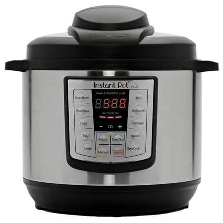 Instant Pot LUX80 8 Qt 6-in-1 Multi-Use Programmable Pressure Cooker, Slow Cooker, Rice Cooker, Saute, Steamer, and (Instant Pot 8 Quart Vs 6 Quart)