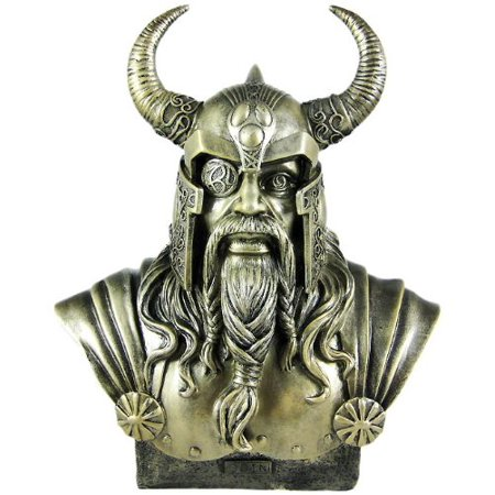 11.75 Inch King Odin Warrior God Head and Bust Statue