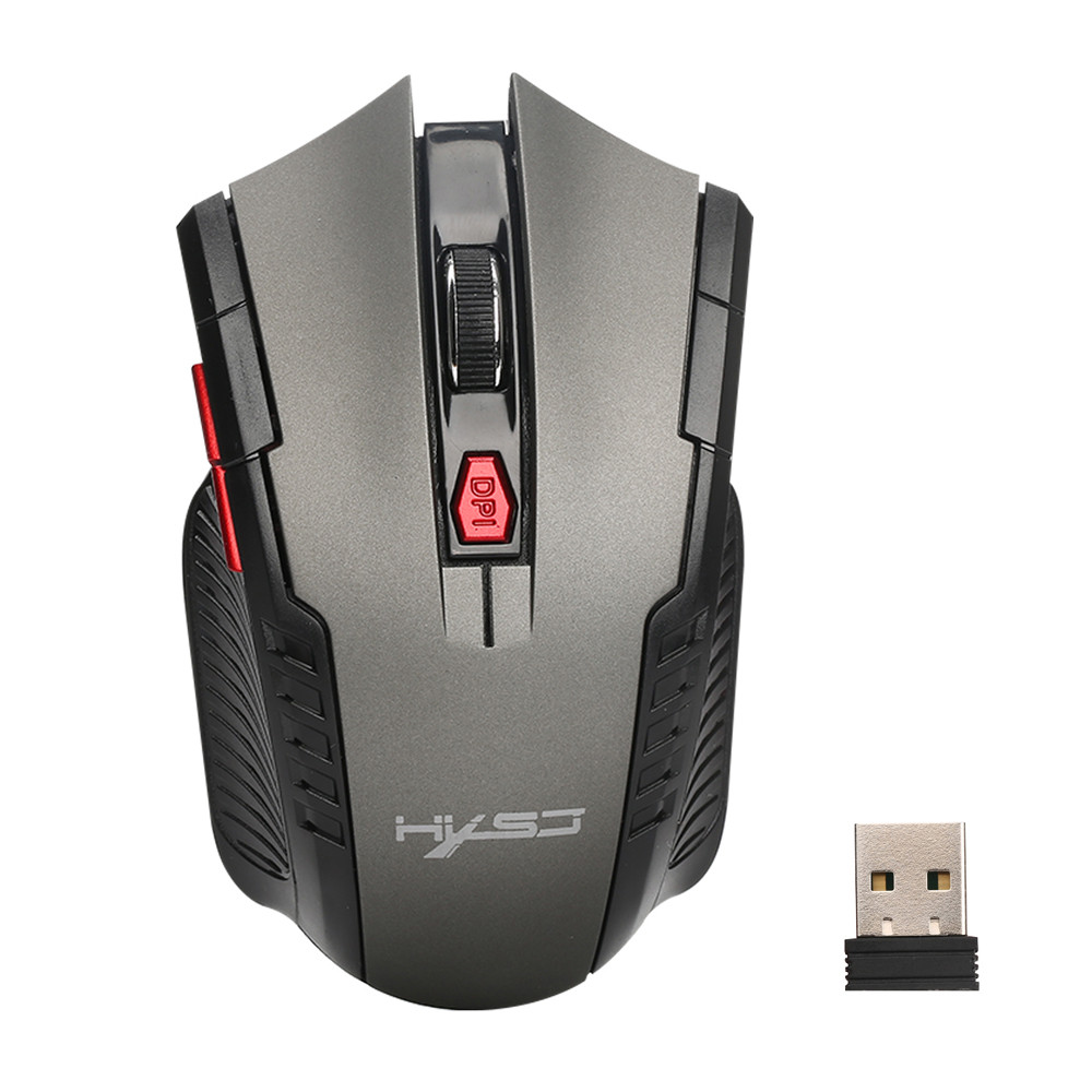 New Fashion 2400DPI 6 Buttons 2.4Ghz Mini Wireless Optical Gaming Mouse For PC Laptop GY