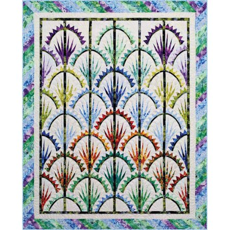 Clamshell Quilt Pattern by Judy Niemeyer and Quiltworx 62 by 78