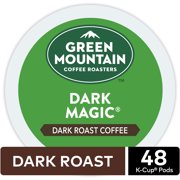Green Mountain Coffee Dark Magic K-Cup Pods, Dark Roast, 48 Count for Keurig Brewers