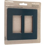 Lutron Claro 2 Gang Rocker Wallplate, Black