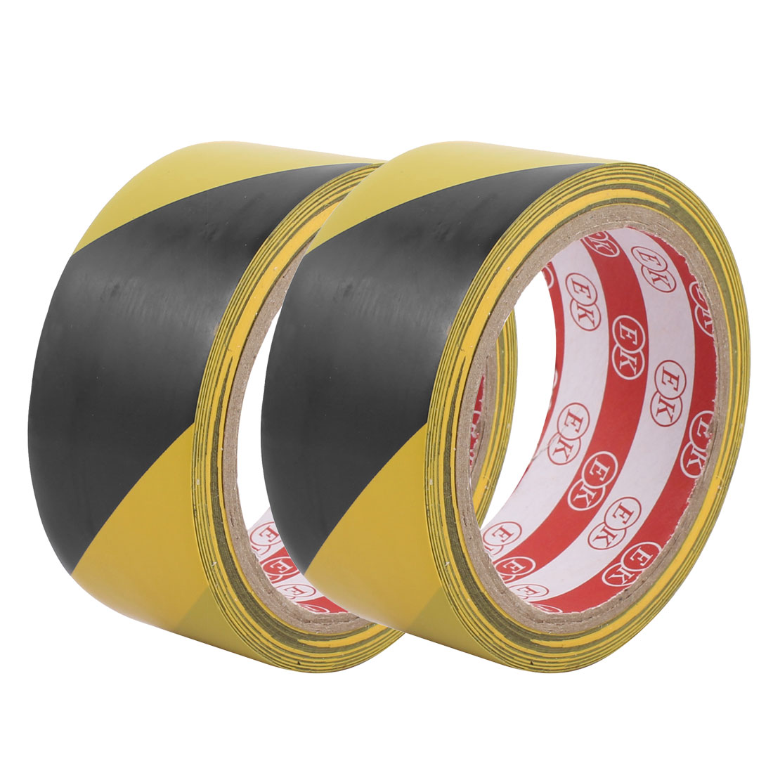 45mm x 17M PVC Striped Floor Boundary Marking Warning Tap Black Yellow 2Pcs - image 3 de 3