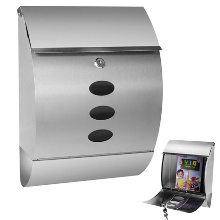 Gymax Wall Mount Mail Box Stainless Steel - image 10 de 10