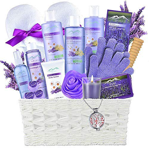 Christmas Gift Baskets For Women.Gift Baskets The 1 Choice Christmas Gift Ideas Bath And Body Spa Basket For Women Men Lavender Home Spa Set Includes 20 Spa Gifts With
