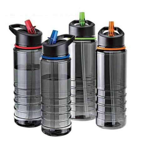 KABOER Sport Water Flip Drinks Cycling Hiking Running Hydration Straw Bottle