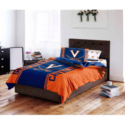 NCAA University of Virginia Cavaliers Bed in a Bag Complete Bedding Set