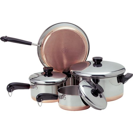 Revere Stainless Steel Copper Clad Cookware Set Walmart Com