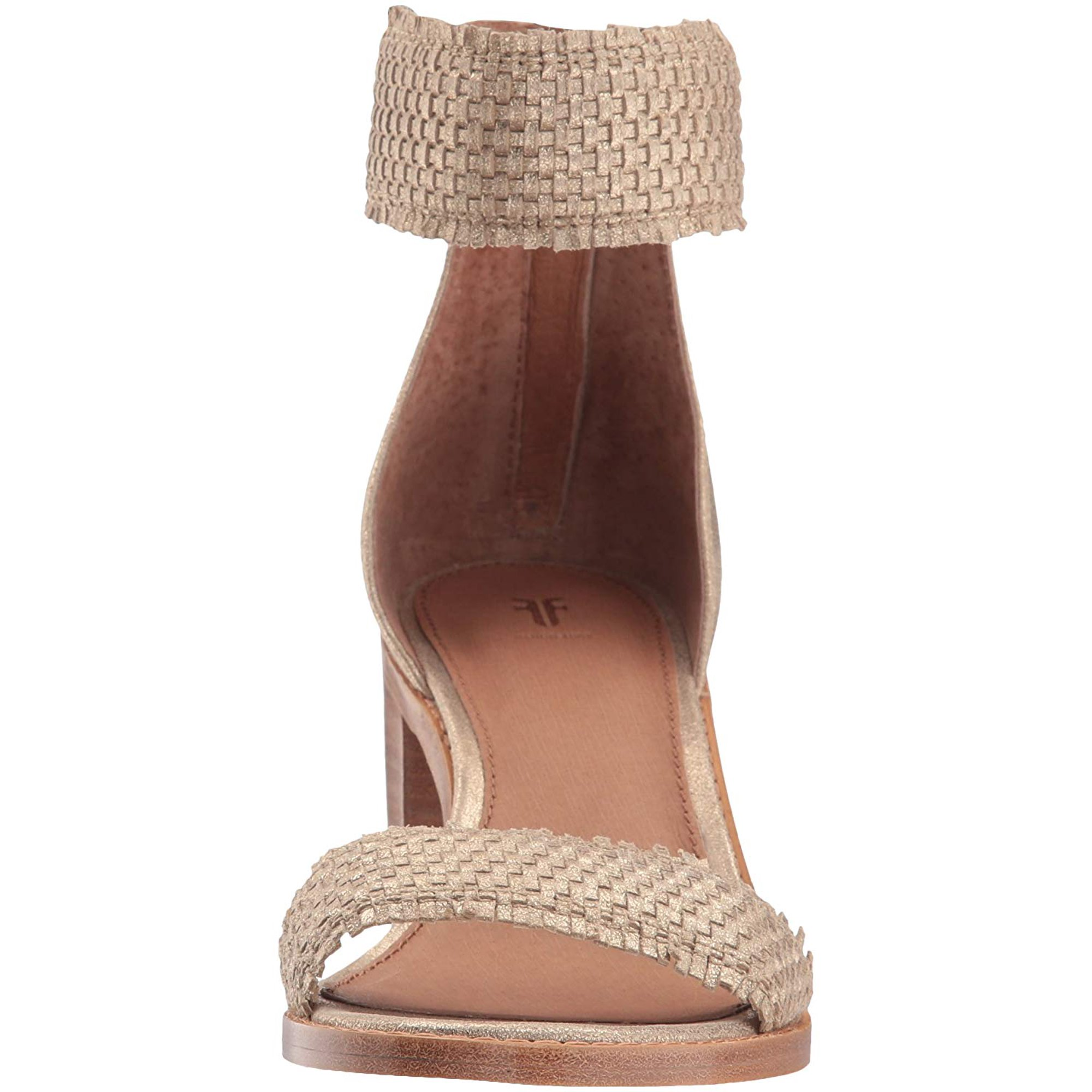 a2ca4af611b3 FRYE Women s Bianca Woven Back Zip Heeled Sandal