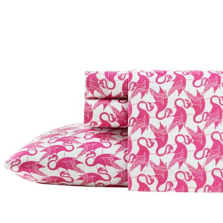 Poppies Thread - Poppy & Fritz Flamingos Sheet Set, Twin XL