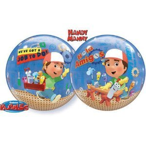 Handy Manny Party Bubble Balloons Size 22 inches Type 3 Dimensions - Handy Manny Party Treat