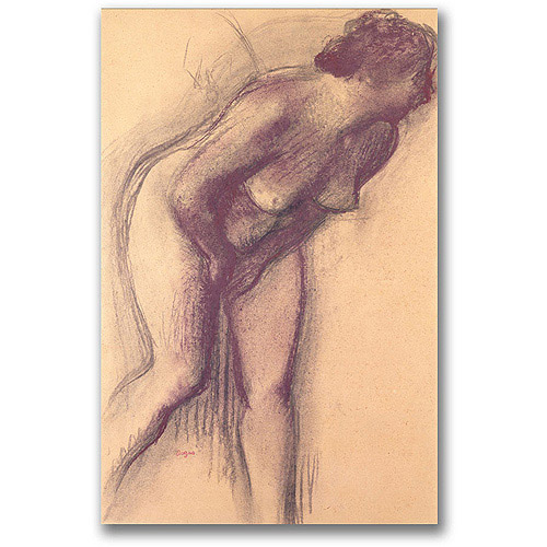 "Trademark Fine Art ""Female Standing Nude"" Canvas Wall Art by Edgar Degas"