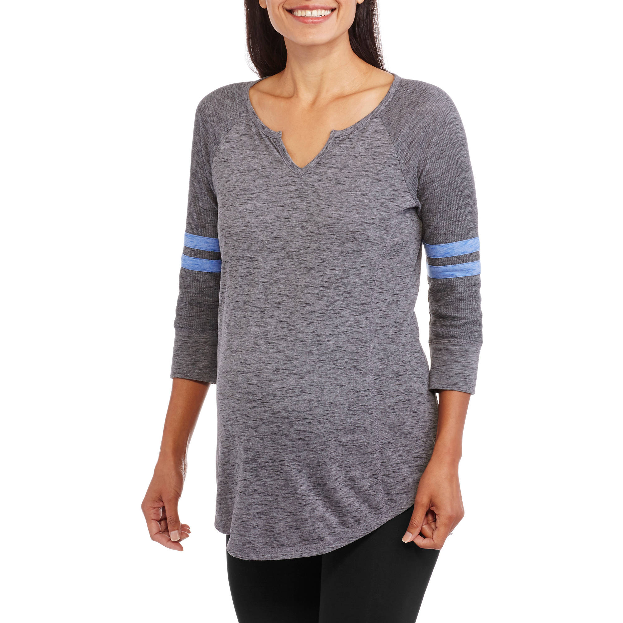 Danskin Now Maternity Elbow Sleeve Baseball Tee