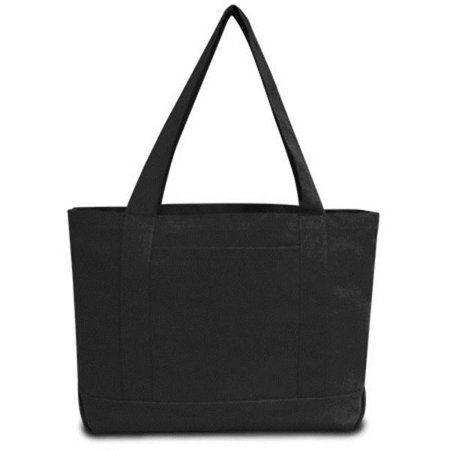Seaside Cotton Pigment Dyed Boat Tote, Washed Black - Case of 48 - image 1 of 1