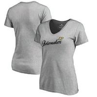 Purdue Boilermakers Fanatics Branded Women's Dora V-Neck T-Shirt - Heathered Gray