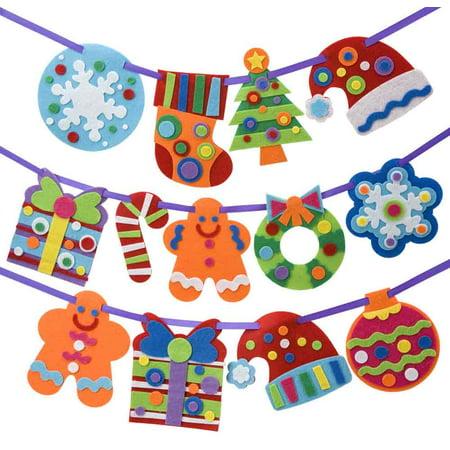 Alex® Felt Christmas Banner 25 pc Box (Christmas Arts And Crafts)