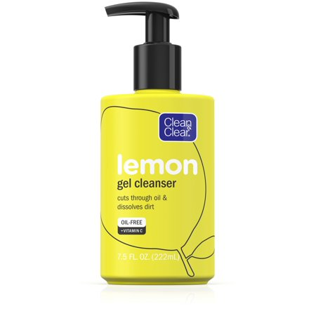 Clean & Clear Lemon Gel Facial Cleanser with Vitamin C, 7.5 fl.