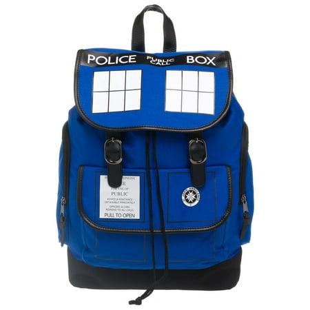 Dr. Who Tardis Backpack - Navy Blue Tardis Backpack (Doctor Who Backpack)