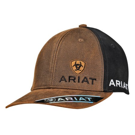Logo Embroidered Water Bottle (Ariat Men's Embroidered Signature Logo Cap Brown OS)