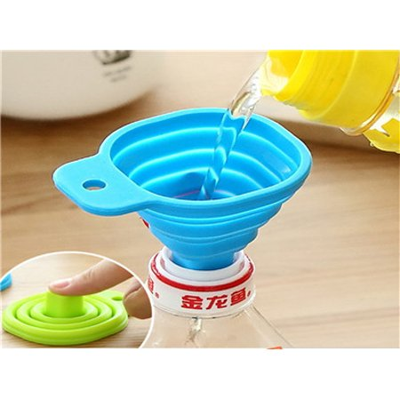 - Sayhi Kitchen Home Mini Food Grade Silicone Folding Telescopic Funnel