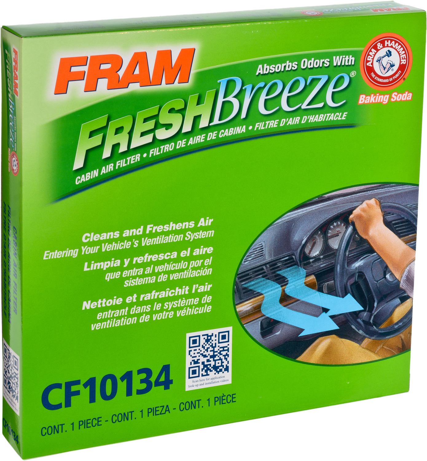 Fram Fresh Breeze Cabin Air Filter Cf10134 1999 Camry Fuel Location