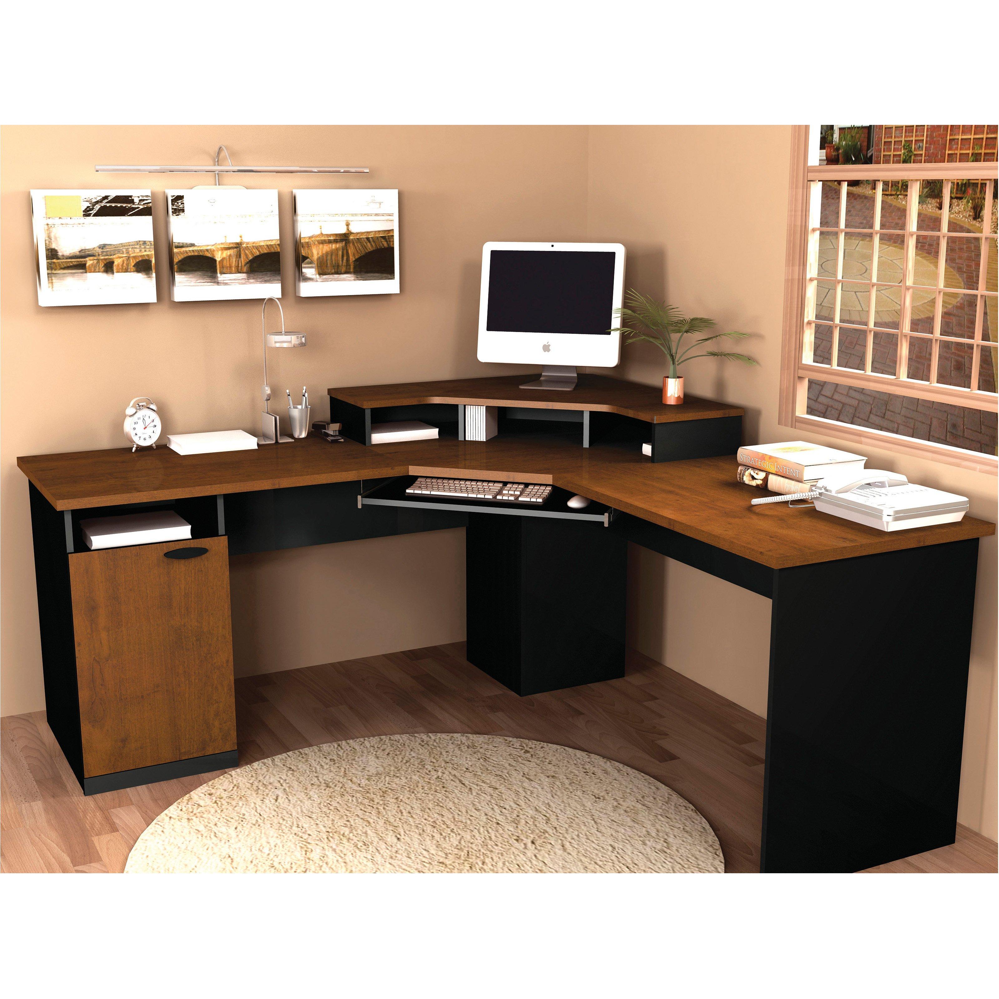 . Bestar Hampton Corner Computer Desk   Walmart com