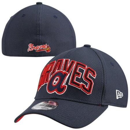 84fd0204efe Atlanta Braves New Era 39THIRTY Diamond Era Flex Hat - Navy Blue - S ...