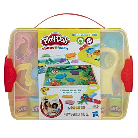 Play-Doh Shape & Learn Discover & Store Set with 6 Cans of Play-Doh