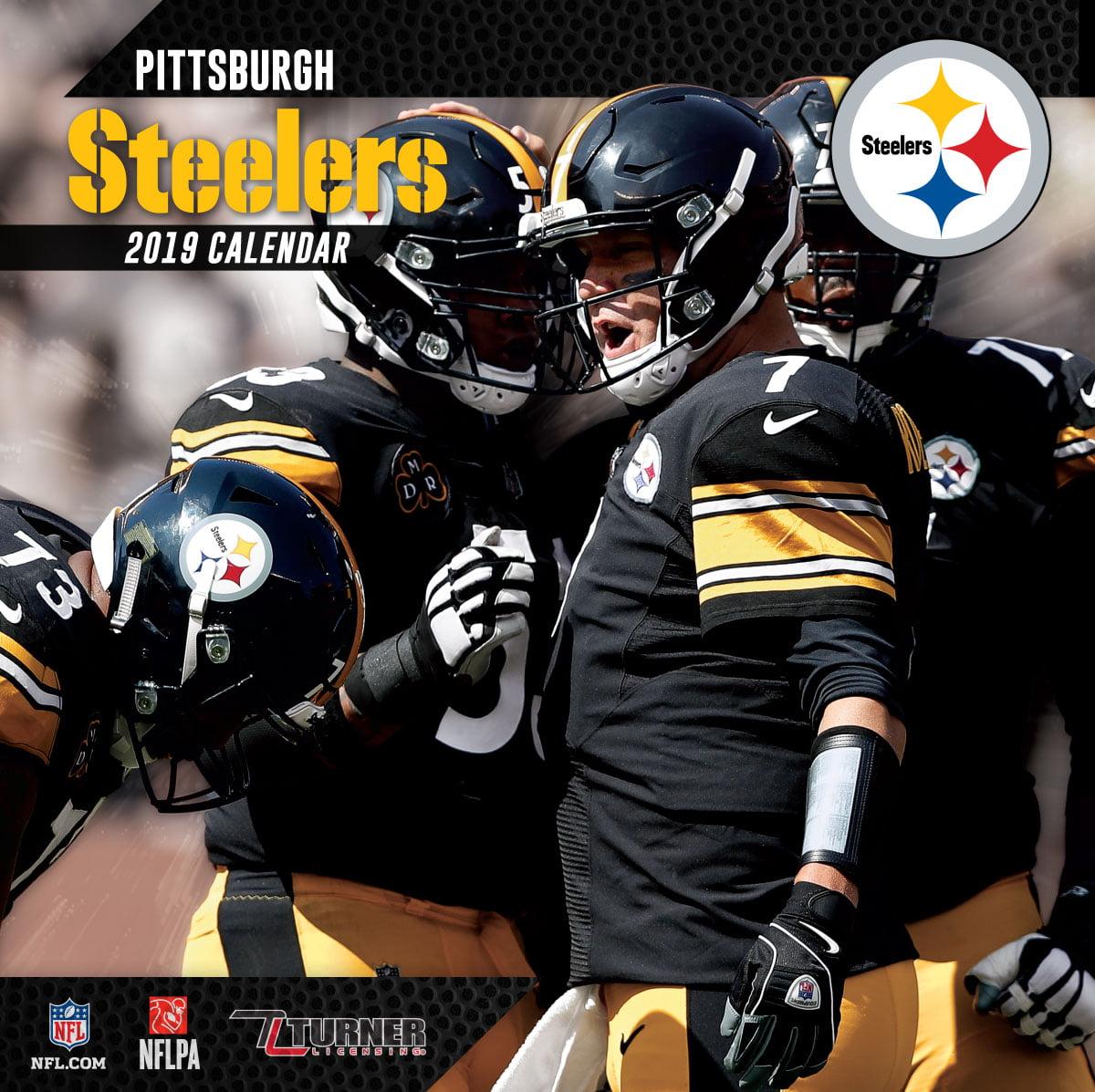Steelers Calendar 2019 2019 12X12 TEAM WALL CALENDAR, PITTSBURGH STEELERS   Walmart.com