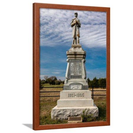 Bloody Cedars Civil War Memorial, commemorating battle between North and South - Shenandoah Coun... Framed Print Wall