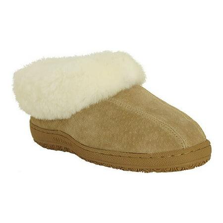 Old Friend Slippers Womens Sheepskin Fleece Juliet Chestnut 441144 ()