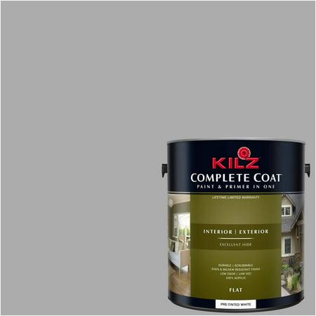 Soft Steel, KILZ COMPLETE COAT Interior/Exterior Paint & Primer in One,