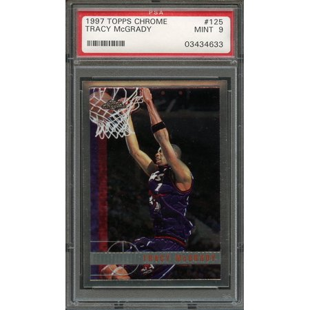 1997-98 topps chrome #125 TRACY MCGRADY orlando magic rookie card PSA - Topps Chrome Rookie Autographs