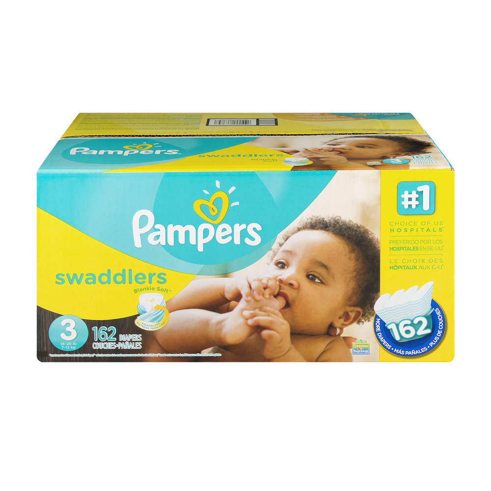 Pampers Swaddlers Diapers 3 (16-28 lb) - 162 CT