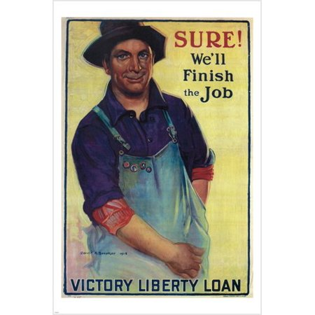 Victory Liberty Loan Vintage Poster G A Beneker Us 1918 24X36 New Patriotic ()