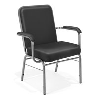 OFM Comfort Class Series Model 300-XL-VAM Big & Tall Anti-Microbial/Anti-Bacterial Vinyl Stacking Arm Chair, Black