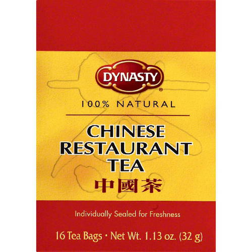 ***Discontinued***Dynasty Chinese Restaurant 100% Natural Tea, 16BG (Pack of 6)