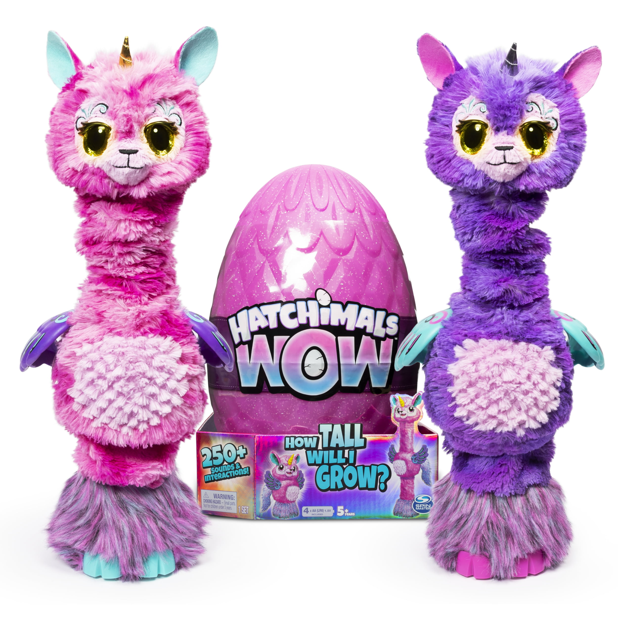 """Hatchimals WOW 32"""" Interactive Hatchimal Blind Pack with Re-Hatchable Egg - Llalacorn"""