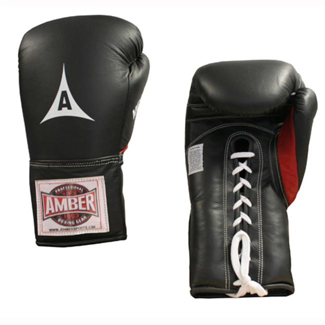 Amber Sporting Goods ABG-3003-L-16 Professional MFG Laceup Training Gloves 16oz