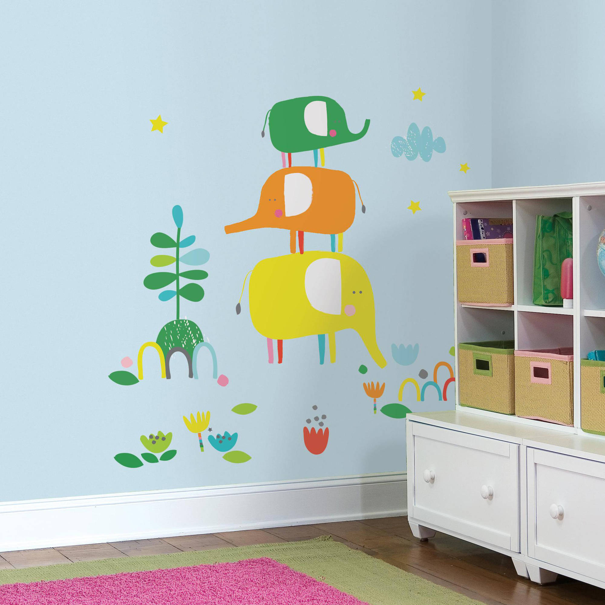 Zutano Elephantasia Peel and Stick Giant Wall Decals