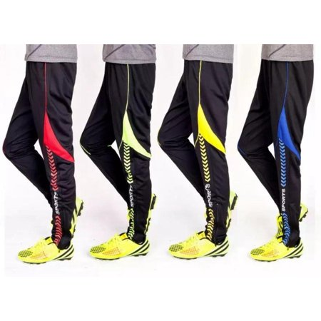 Training Pants Soccer Fluorescence Green Black Men