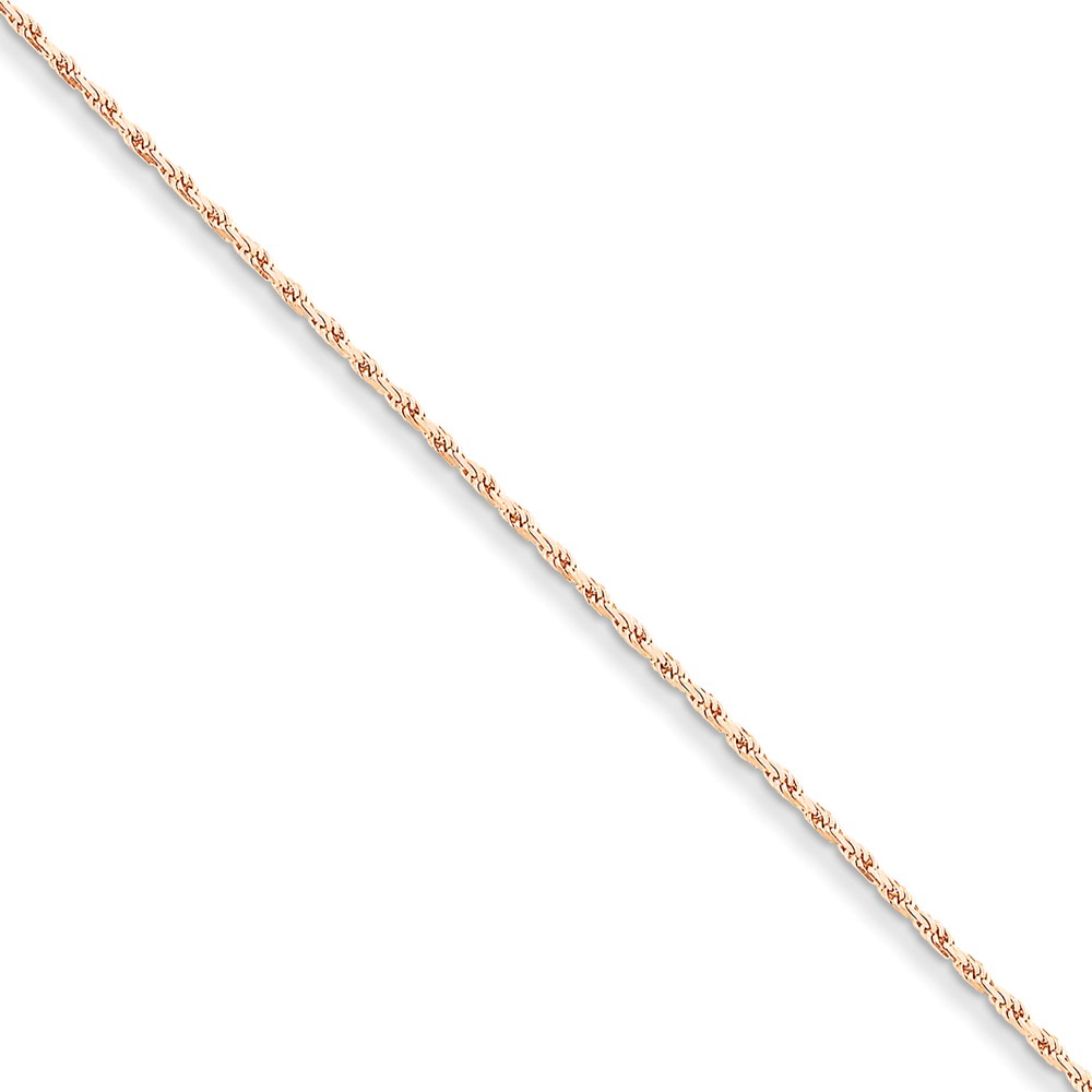 14kt Rose Gold 1.8mm Link Rope Bracelet Chain 7 Inch Fine Jewelry For Women Gift Set by IceCarats Designer Jewelry Gift USA